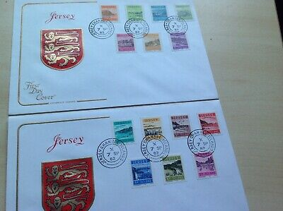 GB Jersey 1982 Jersey Harbour Postage Due full set of stamps.First Day Cover