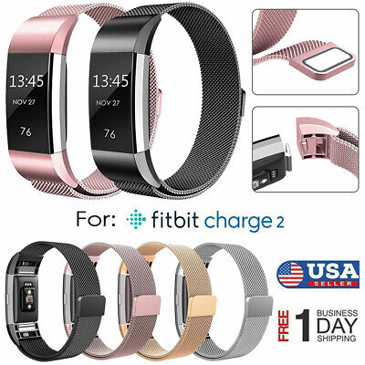 FOR FITBIT CHARGE 2 Strap Replacement Milanese Band Metal