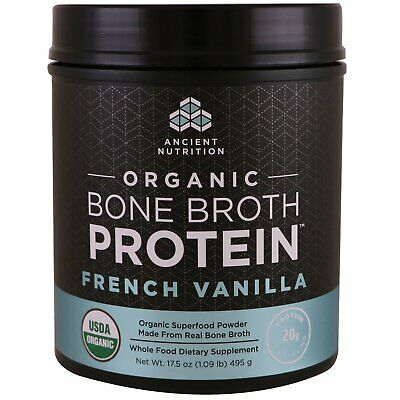 Dr. Axe / Ancient Nutrition Organic Bone Broth Protein 1.1 lbs (495 g)