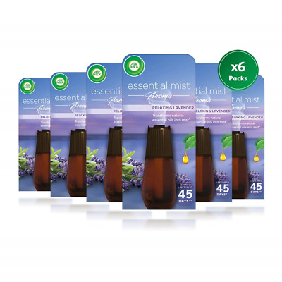 Airwick Essential Mist Refill, Relaxing Lavender, 20 ml Pack of 6