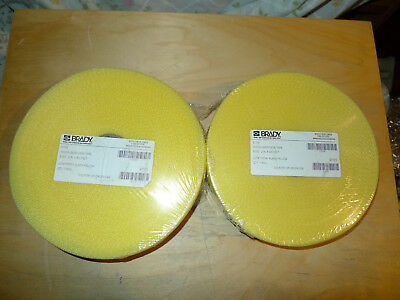 2 Pack of Brady 91176  Black and Yellow Color Woven Barricade Tape