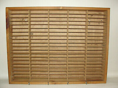 Napa Valley Box Co Real Wood 100 Cassette Tape Storage Holder Wall Shelf Rack