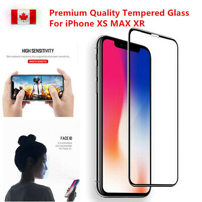 9H Premium Full Tempered Glass Screen Protector Curved For iPhone X XS Max XR