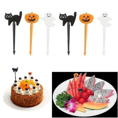 6pcs Lunch Decoration Accessory 3D Food Pick Halloween and Christmas best