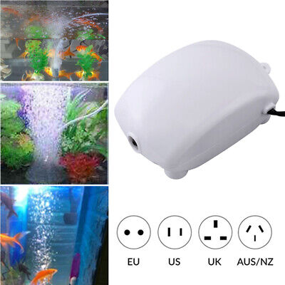 Air Bubble Aerator Oxygen Pump Disk Stone Silent for Fish Tank Aquarium Pond New