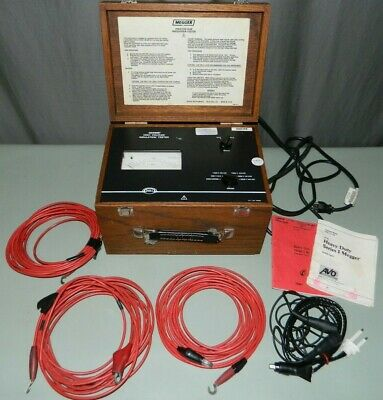 Genuine Biddle Megger 218660 High Voltage Insulation Tester with Leads, Manuals