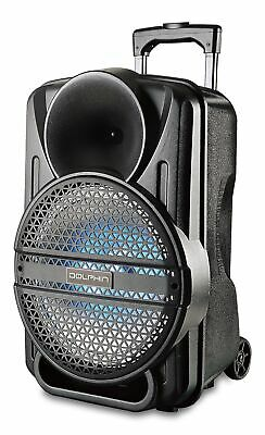 Dolphin SP-12ERBT 2100 Watt Rechargeable Bluetooth Party Speaker with LED Lights