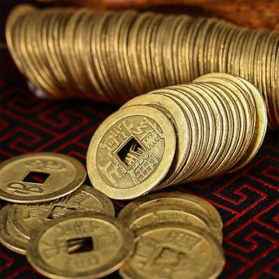 200 Pcs 1 Inch Ancient Chinese Fortune Round Shaped Coins Luck Coins Collection