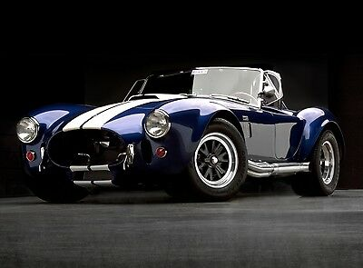 1965 FORD AC SHELBY 427 COBRA VINTAGE CAR POSTER PRINT STYLE C 18x36 9 MIL PAPER