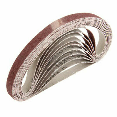 10pcs Abrasive Sanding Belts Sander Grinding Polishing Tools For Belt Sander KIT