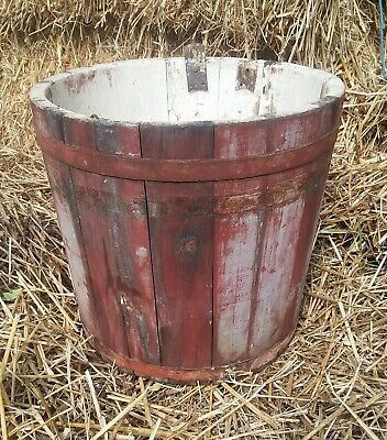 Primitive Maple Syrup Painted Bucket Paint Pail AAFA Berkshires New England