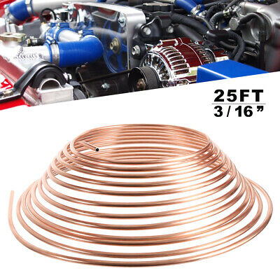 """COPPER BRAKE PIPE HOSE 3/16"""" 25FT ROLL LINE TUBE PIPING JOINT UNION for Car RW"""