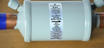 """EMERSON BSS 167S 167-s 7/8"""" ODF Solder Suction Line Filter Drier"""