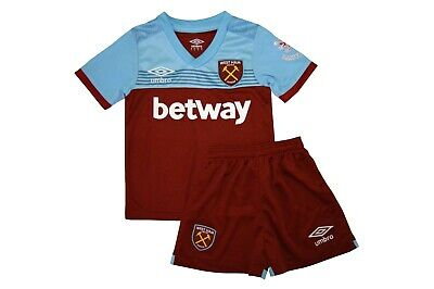 Kit For Kid Fc West Ham United Home 19/20 Season New With Tags