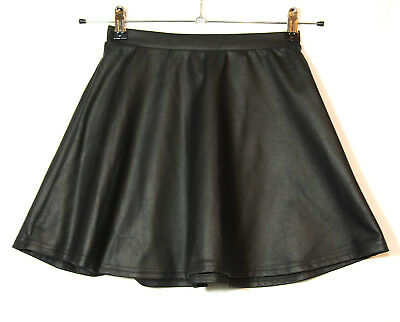 Black A-Line Flippy Skirt Short Mini Size 6 River Island Casual Party