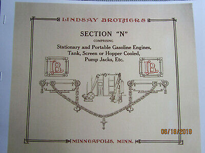1910s? Lindsay Bros. Section N Stover Engine Information Catalog Section
