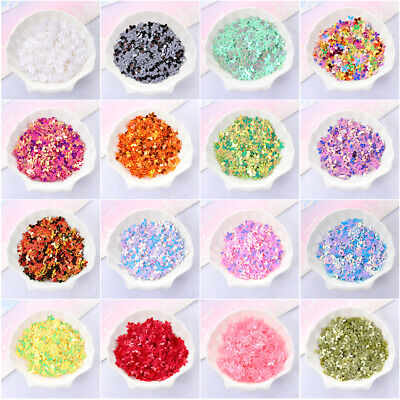 350Pcs Colorful Flower Loose Sequins Paillettes 10mm Sewing Wedding Nail Craft
