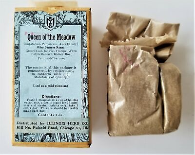antique QUEEN of MEADOW il herb Quack Medicine orig box Joe Pie Trumpet Weed