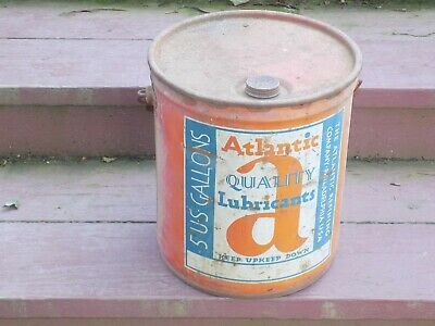 Atlantic 5 Gallon Lubricant Empty Can with Top