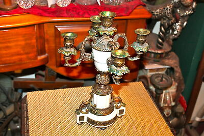 Vintage Victorian Style 4 Arm Candelabra Candle Holder #1 Holds 5 Candles