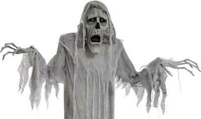 VIDEO! LifeSize Animated Hanging PHANTOM GHOST Halloween Prop HAUNTED SPIRIT