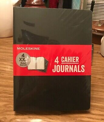 New Pack of 4 Moleskine Cahier Soft Cover Journal Notebook XXL 8.5 x 11 Black