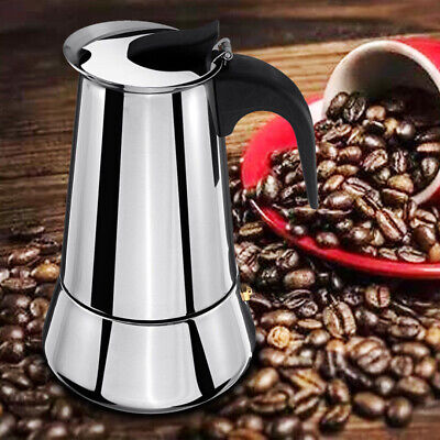 9cup Stainless Steel Stovetop Moka Espresso Coffee Maker Pot Induction Cooker