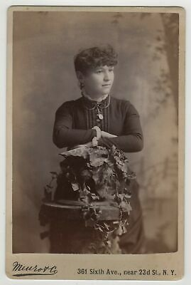 Cabinet Card - Young Woman Unusual Pose - Meurot Co., New York City
