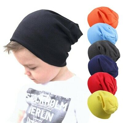 Baby Hat Scarf Knitted Caps Winter Solid Color Cotton Toddlers Beanie Headwears