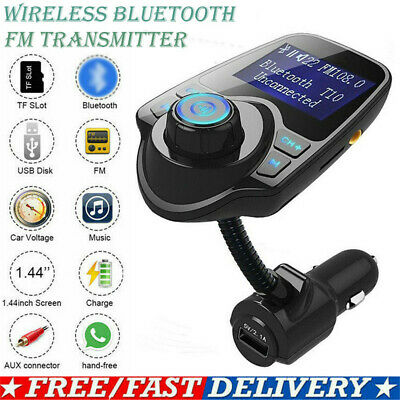 CA Wireless Bluetooth Car FM Transmitter MP3 Radio Adapter Car Kit USB Charger
