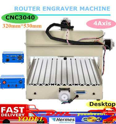 4Axis CNC 3040 Router Engraver Desktop Engraving Milling Machine For Wood PVC UK