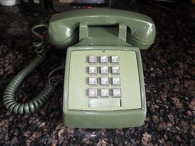 VINTAGE 1970's BELL WESTERN ELECTRIC 2500 PHONE TOUCH TONE TELEPHONE GREEN MID C
