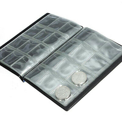 120 Coins Collection Holders Storage Money Penny Pocket Album Book Folder VSS