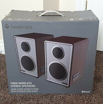 GOODMANS TWIN WIRELESS Bluetooth Audio Stereo Compact Silver