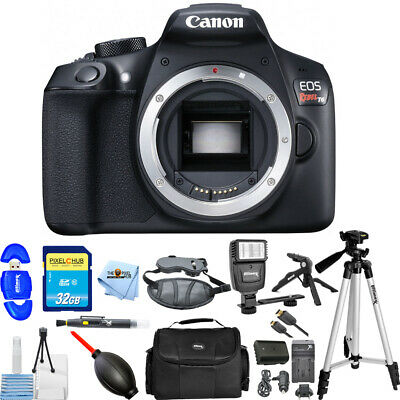 Canon EOS Rebel T6 DSLR Camera (Body Only) Pro Extra Battery Flash Bundle