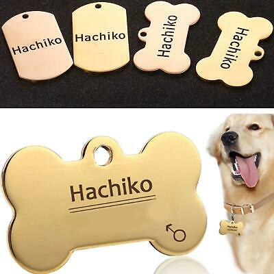 New Pet Dog Cat Aluminum Nameplate Bone Identity Card Custom Engraved ID WST
