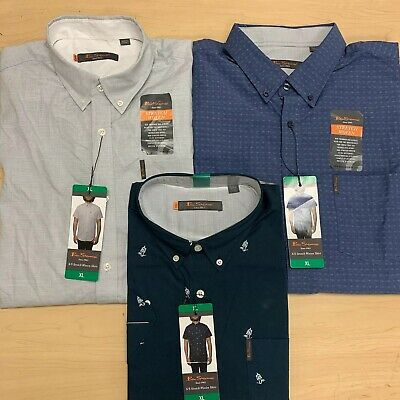 NEW Ben Sherman Men/'s Short Sleeve Stretch Woven Shirt VARIETY Size an Color!