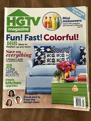 HGTV MAGAZINE LOT of 6 ~ 1 from 2012 & 5 from 2015 ~ FREE