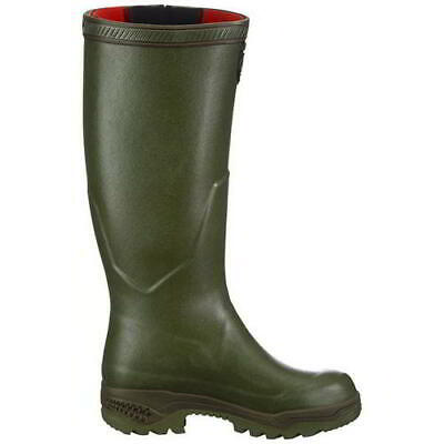 Aigle Parcours 2 ISO Mens Womens Neoprene Adjustable Wellies Boots Green