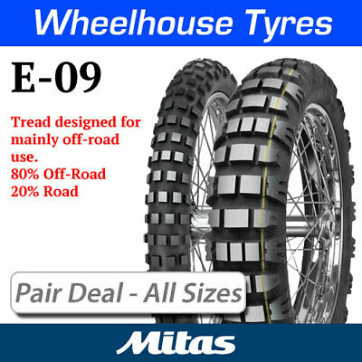 Mitas E-09 & E-09 Dakar Pair Deal - All Options