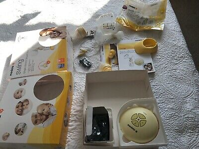 Medela Swing Breast Pump with 2x Calma Teats And Unused Quick Clean Bag