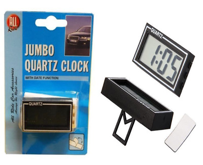 Auto Car Interior Jumbo Clock Black With Time Date Alarming Clear LCD Display