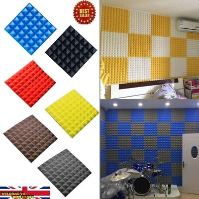30*30cm 10Pcs Acoustic Wall Panels Sound Proofing Foam Pads Studio Treatments UK