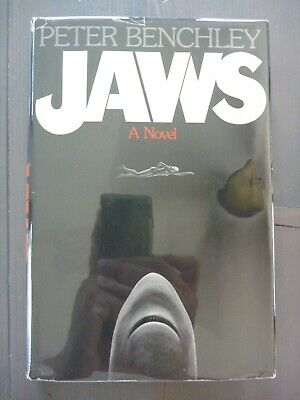 JAWS by PETER BENCHLEY 1974 1ST EDITION *P7* EARLY PRINT HC w/ JACKET SHARKS VG