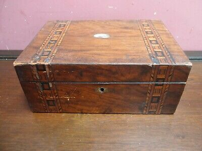 Antique Victorian Walnut Tunbridge Ware Jewellery Box Restoration Project