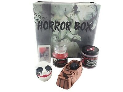 Horror Box | Bath Bombs | Handmade Soap | Body Scrub | Candle | Killer Clown| IT