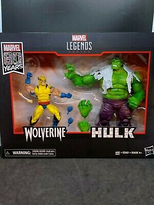 "Marvel Legends 6"" 80th Anniversary Hulk Vs. Wolverine Action Figure 2-Pack"
