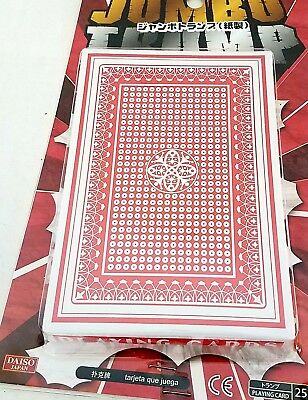 Jumbo Playing Cards New Seal 3 3/4 x 5/ 5/8 Inch