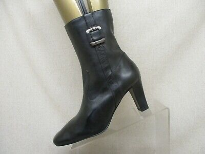 9d0327cb7ae ETIENNE AIGNER WOMEN'S Black Leather Ankle Boots Booties