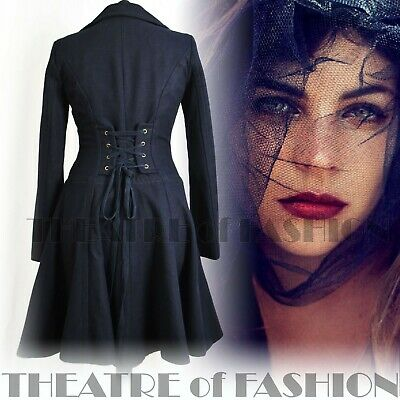 VINTAGE CORSET COAT XS S 4 6 8 JACKET RIDING 40s WAR BRIDE 50s VAMP VICTORIAN